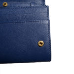 Prada Wallet on Chain saffiano leather darkblue gold 7 Kopie