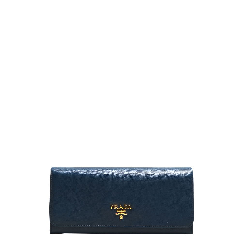 Prada wallet blue gold saffiano leather_10 Kopie
