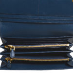 Prada wallet blue gold saffiano leather_6 Kopie
