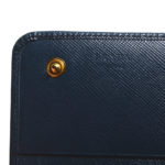 Prada wallet blue gold saffiano leather_8 Kopie