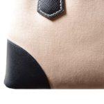 Prada Galliera Double Zip canvas beige blue saffiano leather with crossbody stripe_10 Kopie
