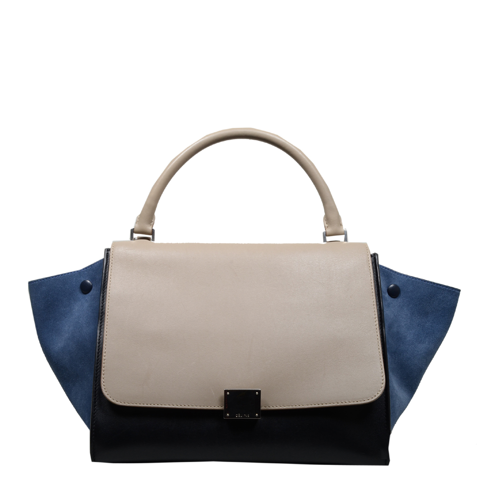 CelineTrapez Bag black blue beige 10 Kopie