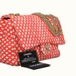 Chanel Tasche Canvas red white-11 Kopie