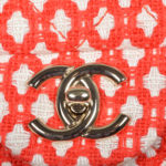 Chanel Timeless classic rot white canvas gold 2