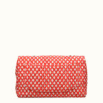 Chanel Timeless classic rot white canvas gold 4