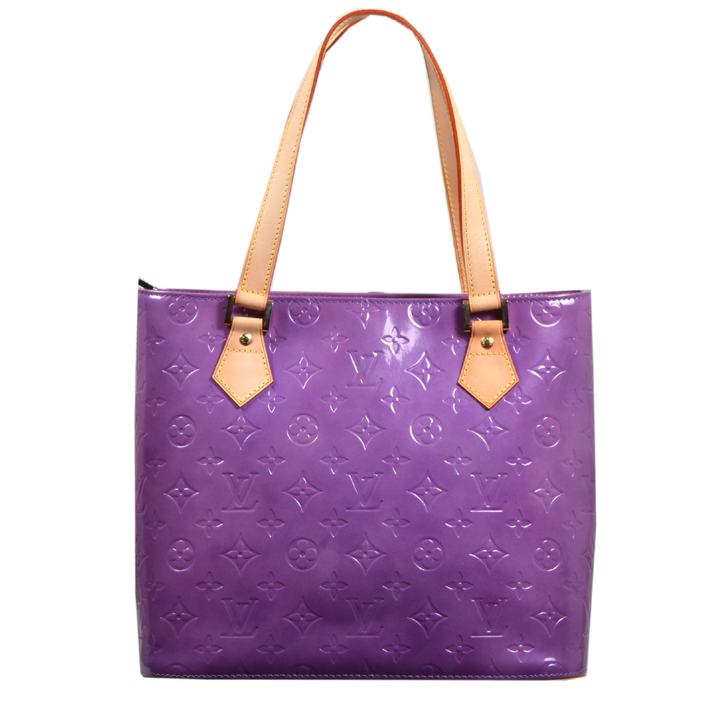 Louis Vuitton Houston purple vernis leather_7 Kopie
