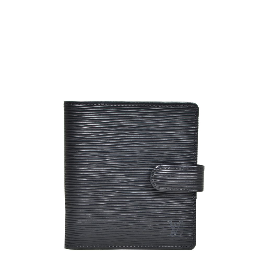 Louis Vuitton wallet epi leather black 6 Kopie