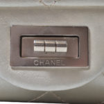 chanel 25.5 silver nappa leather silver 3