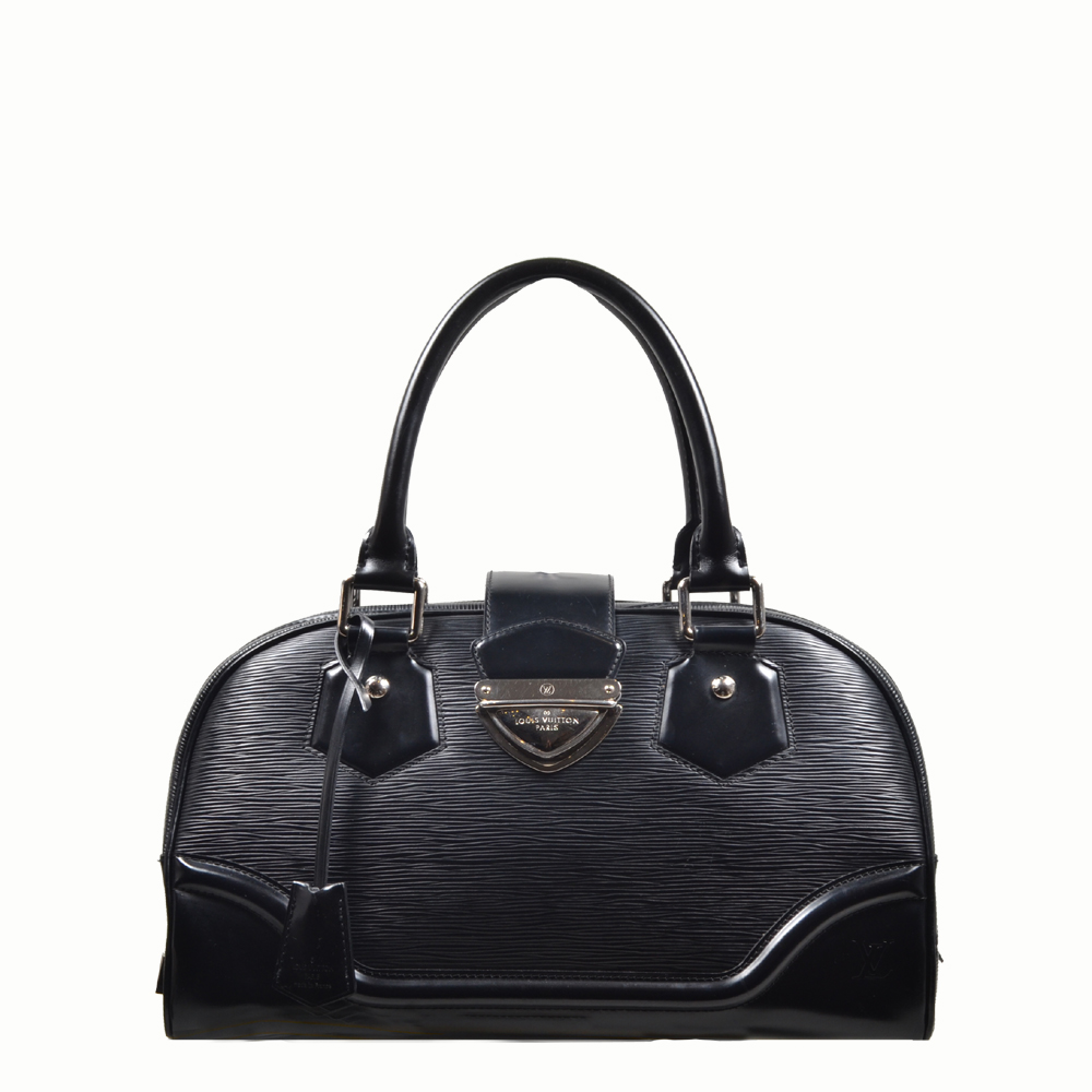 louis vuitton bag Bowling-Montaigne-GM epi leather black 3 Kopie
