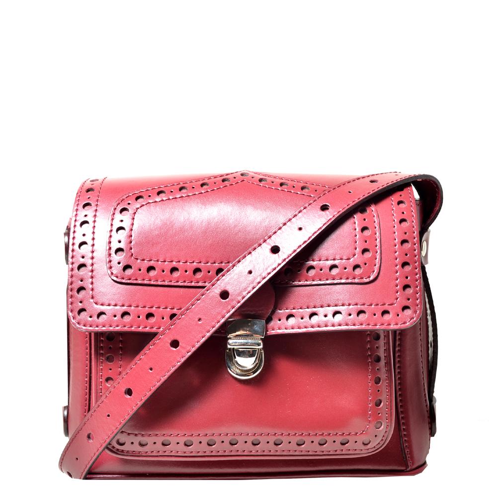 Carven bag bordeux red leather_7 Kopie