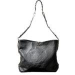 Chanel Shopper big black caviar leather CC silver_1 Kopie