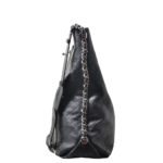 Chanel Shopper big black caviar leather CC silver_5 Kopie