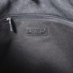 Chanel Shopper big black caviar leather CC silver_9 Kopie