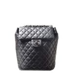 Chanel backpack black silver nappaleather_2 Kopie