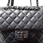 Chanel backpack black silver nappaleather_3 Kopie