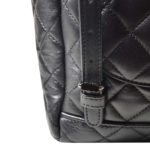 Chanel backpack black silver nappaleather_5 Kopie