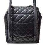 Chanel backpack black silver nappaleather_6 Kopie