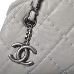 Chanel bag white grey silver leather_10 Kopie