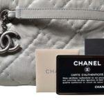 Chanel bag white grey silver leather_2 Kopie