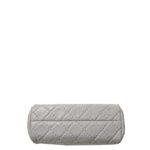 Chanel bag white grey silver lleather_6 Kopie