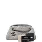 Chanel bag white grey silver nappaleather_1 Kopie