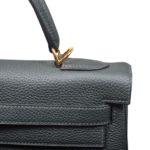 Hermes Kelly 32 togo leather Vert Fronce gold hardware_1 Kopie