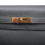 Hermes Kelly 32 togo leather Vert Fronce gold hardware_7 Kopie