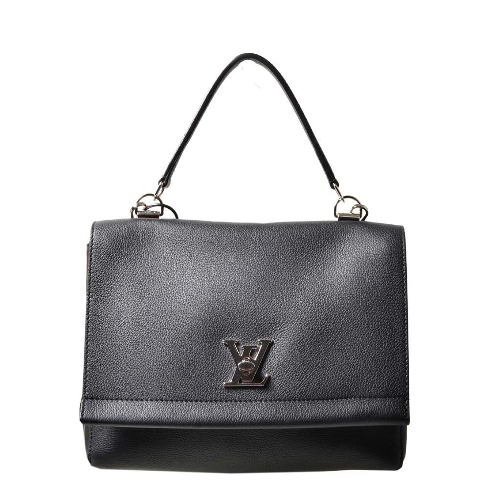 Louis Vuitton MY Lockme black leather silver_9 Kopie