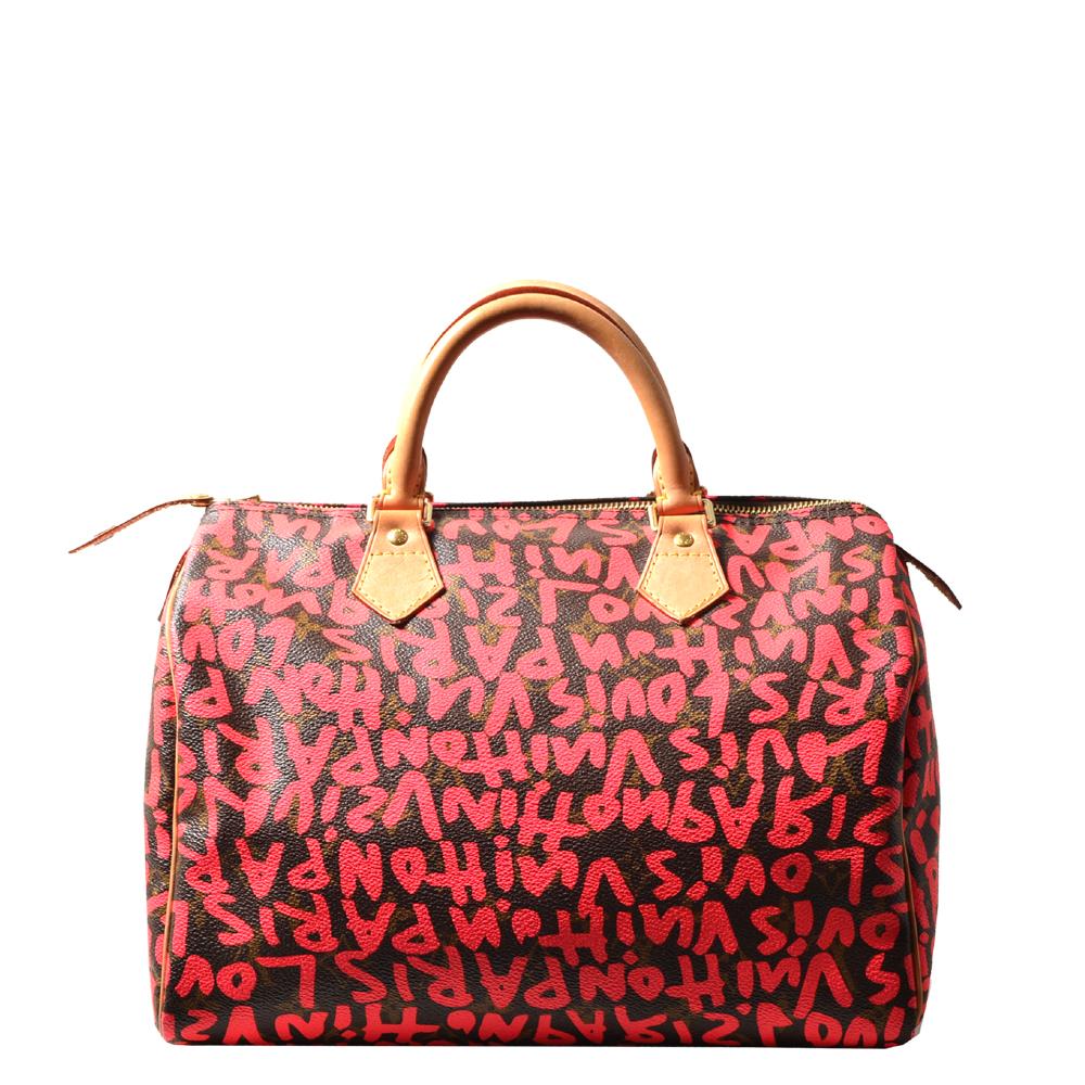 Louis Vuitton Speedy 30 Limited Edition grafitti pink LV Monogram_4 Kopie