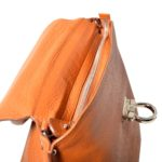 Salvatore Ferragamo bag orange leather gold with shoulderstrip_4 Kopie