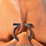 Salvatore Ferragamo bag orange leather gold with shoulderstrip_6 Kopie