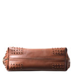 Tods bag wave cognac rivets leather_3 Kopie