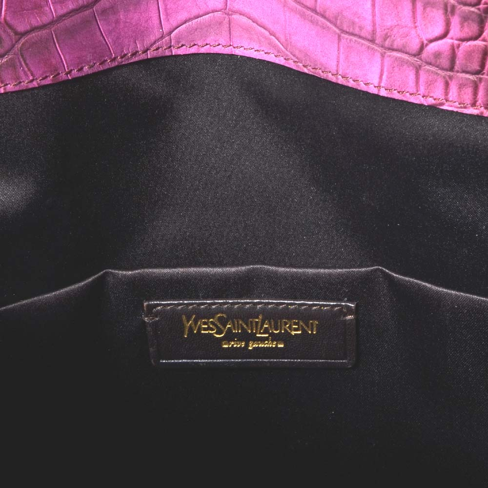 YSL Yves Saint Laurent bag Downtown medium purple gold leather embossed 2  Kopie aea94bf56c00f