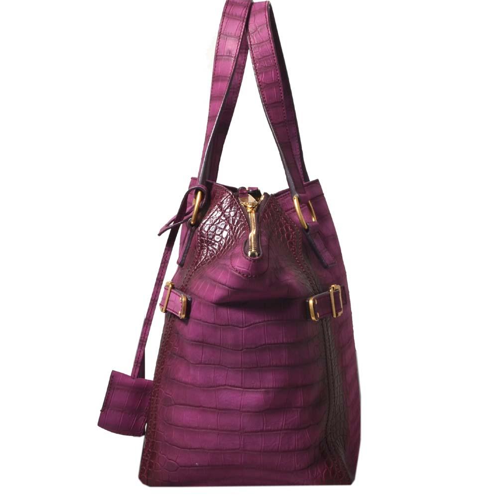 YSL Yves Saint Laurent bag Downtown medium purple gold leather embossed 5  Kopie 9d3ecb9b9fb86