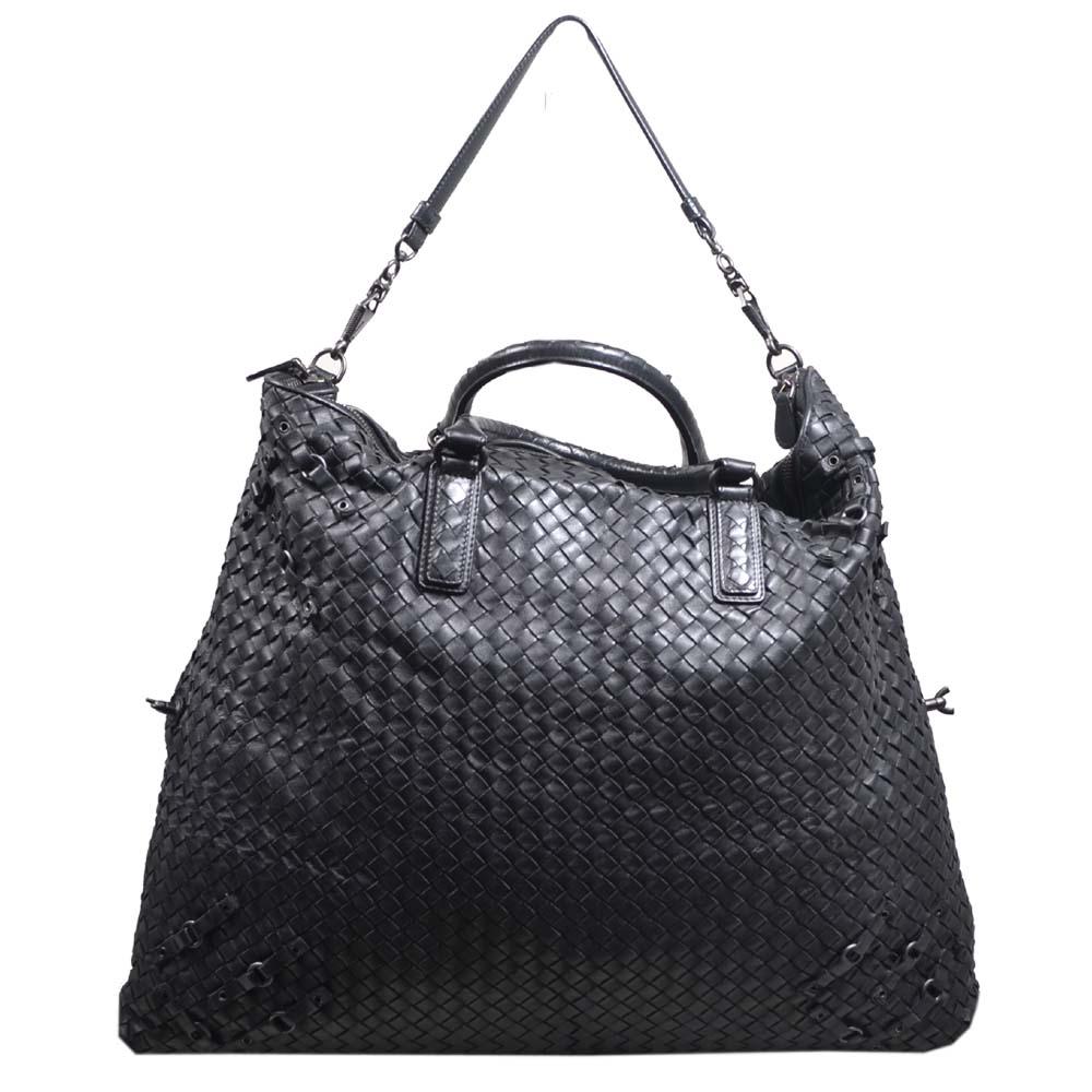 Bottega Veneta bag woven black leather_3 Kopie