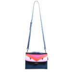 Fendi Demi Jour crossbody bag small blue red pink leather hardware silver_1 Kopie