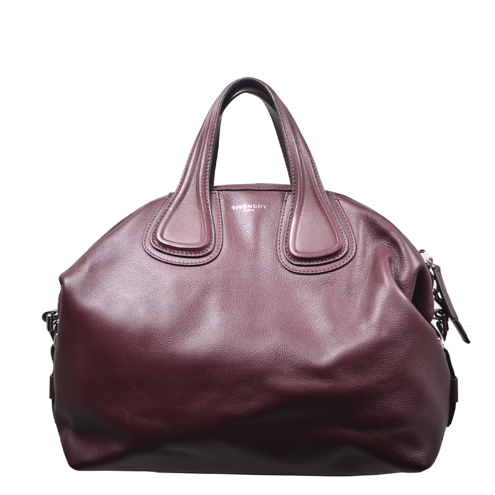 Givenchy Nightingale bag Aubergine leather silver_5 Kopie