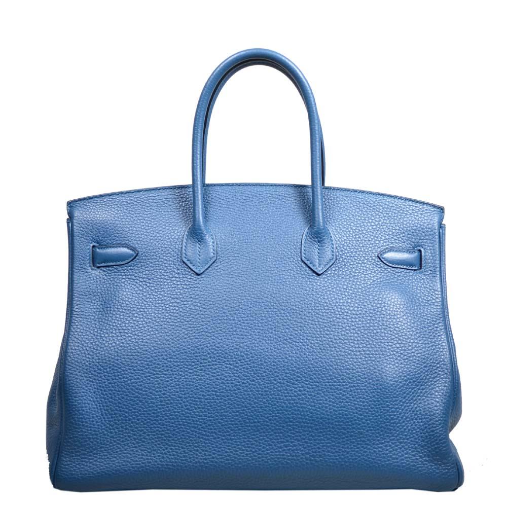 ed6867160b6d ... reduced hermes birkin 35 blue de galice togo leather hardware  palladium6 kopie 8228d dce5a