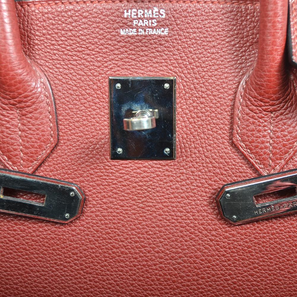 cbe3f25baefdd Hermes Birkin 35 rouge togo leather palladium hardware 5 Kopie