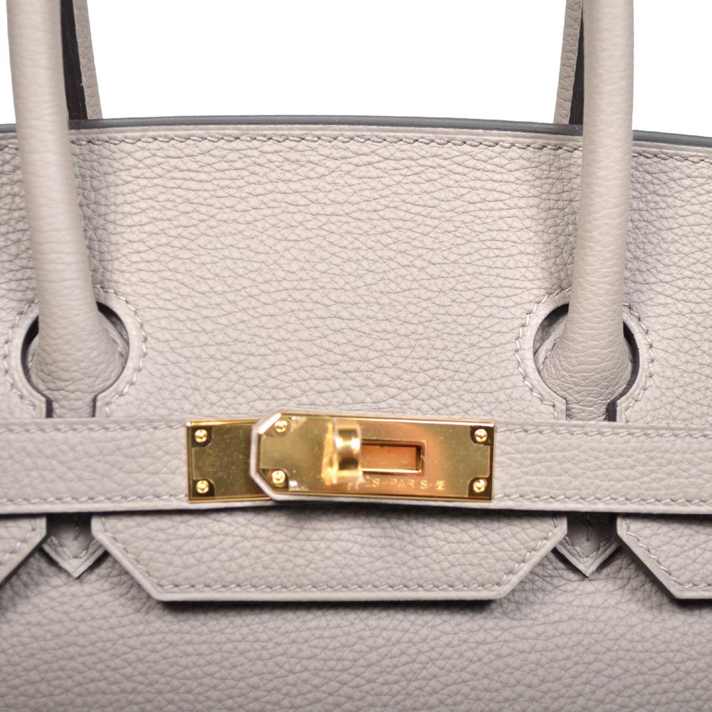 ewa lagan - Hermes Birkin 35 togo leather Gris Asphalt gold hardware