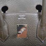 Hermes Birkin 35 vert gris clemence leather palladium hardware_9 Kopie