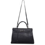Hermes Kelly 35 black togo leather hardware palladium_1 Kopie
