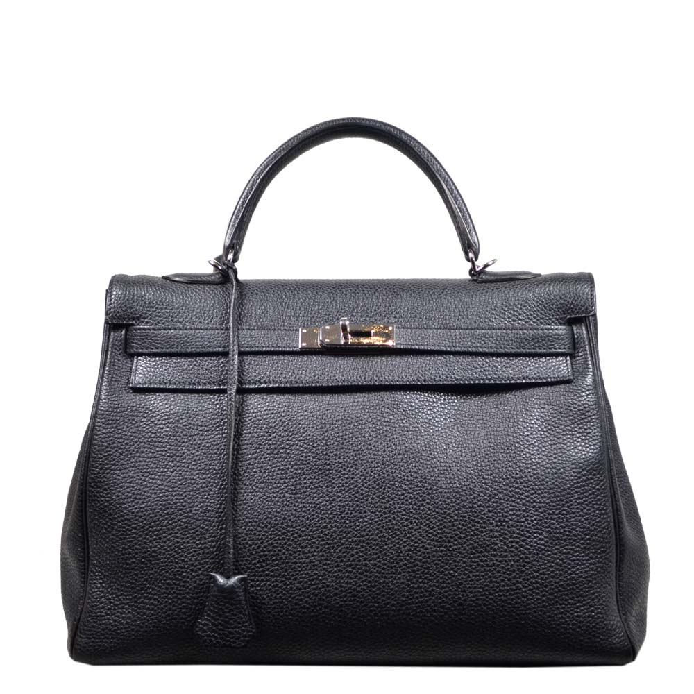Hermes Kelly 35 black togo leather hardware palladium_10 Kopie