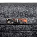 Hermes Kelly 35 black togo leather hardware palladium_5 Kopie
