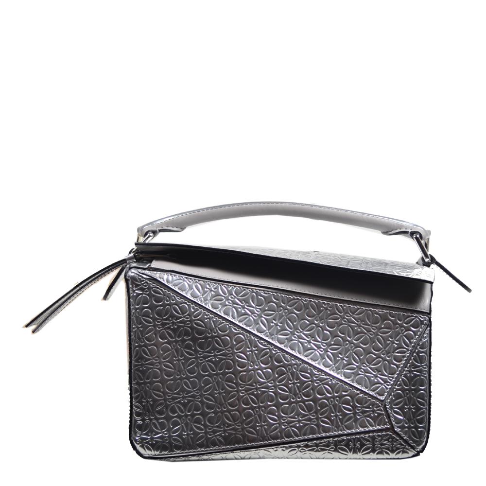 6b01560446 Loewe Tasche Puzzle small mettalic leather shoulder bag 2 Kopie