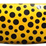 Louis Vuitton Pochette Vernis Dots gelb schwarz YAYOI KUSAMA 3 Kopie