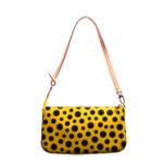 Louis Vuitton Pochette Vernis Dots gelb schwarz YAYOI KUSAMA 6 Kopie