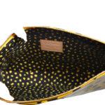 Louis Vuitton Pochette Vernis Dots gelb schwarz YAYOI KUSAMA Kopie