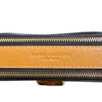 Marc Jacobs crossbody bag mini purple gold leather canvas shoulderstrap gold hardware_10 Kopie