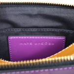 Marc Jacobs crossbody bag mini purple gold leather canvas shoulderstrap gold hardware_11 Kopie
